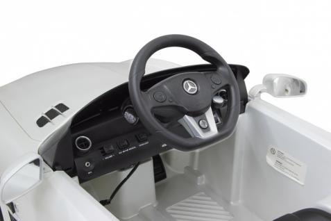 Jamara Ride on Car Mercedes SLS AMG weiß Kinderauto mit E-Motor zum Selbstfahren Elektroauto mit RC-Fernbedienung - Vorschau 4