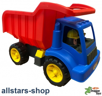 Dragon Toys LKW Truck Laster Dragon Kipper Kipperfahrzeug Sandlaster Kieskipper für Kindergarten und Hort