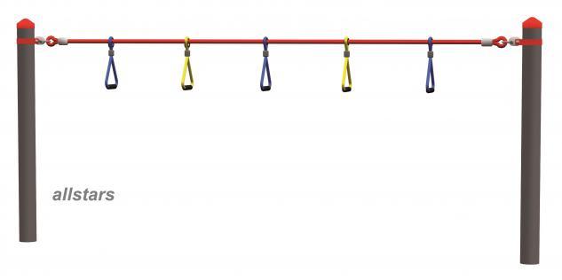 Huck Seil-Parcours Modul Halteschlaufen mit Aufhängungen Spielplatzanlage