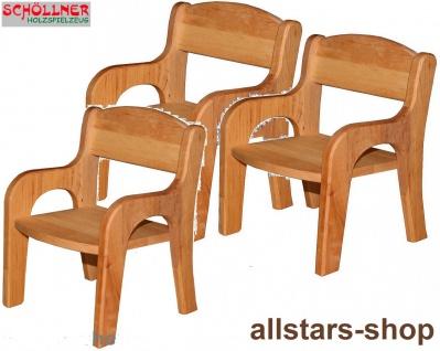 Schöllner Puppenstuhl Klassik aus Holz 3 Stühle Spielmöbel Puppenmöbel für Kindergarten