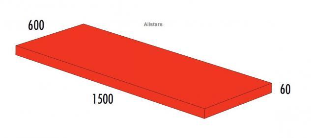 Bänfer Softbaustein Turnmatte Rot 1500 x 600 x 60 mm Maxi Schaumstoff-Baustein