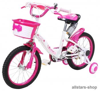 Actionbikes Kinderfahrrad Kinder-Fahrrad - Daisy - 16 Zoll pink-weiß Miweba