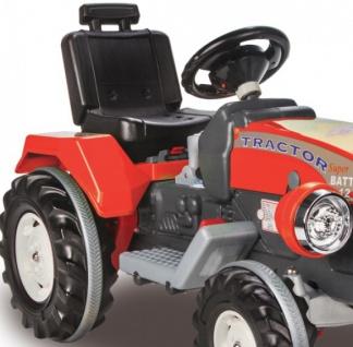 Jamara Kinder-Auto Ride On Traktor mit Elektromotor Trecker Elektro-Tractor rot - Vorschau 3