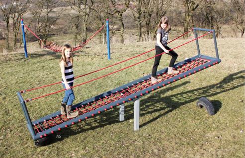 Hally Gally Wippe Netzwippe Profiwippe mit Kletternetz Stahlrahmen Spielplatzgerät