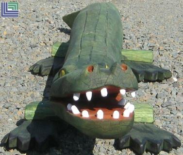 Balancierbalken Krokodil - Kroko - Balanciertier Midi Schwebe-Balken aus Robinie Länge ca. 3, 0 m