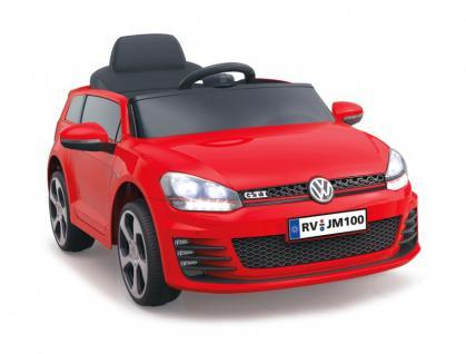 Jamara Ride On VW Golf GTI Kinderauto Elektroauto rot 2, 4G 6V