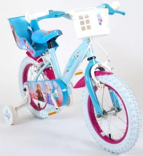 "Allstars Dino Wheels Bikes Disney Frozen Kinderfahrrad Mädchenfahrrad 14 "" 2 Handbremsen blau-lila"