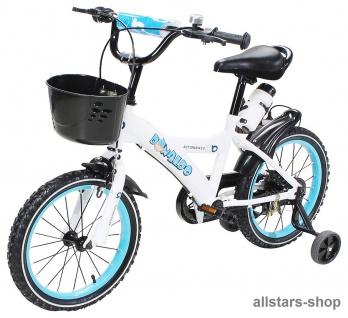 Actionbikes Kinderfahrrad - Donaldo - 16 Zoll blau-weiß Bike Jungen Mädchen für Kindergarten Miweba