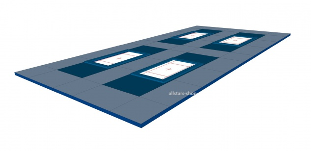 Bänfer Umrandungsmattensatz für Trampolin Großgerät 33-tlg. Nadelfilz für 4 Geräte