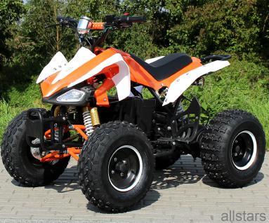 Quad Elektro-Quad Kinderquad E-Quad S-14 Speedy orange-weiss 1000W