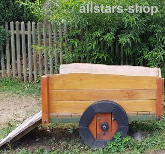Anhänger Maxi L = 1, 80 m mit Flachte und Rampe Hänger für Traktor Trecker Bull Maxi Eiche und Robinie