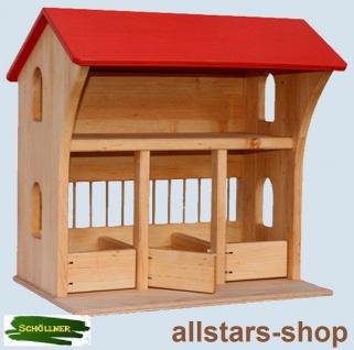 Schöllner Pferdestall aus Holz Stall Hühnerstall Spielhaus für Geflügel Pferde Esel, Kindergarten geeignet