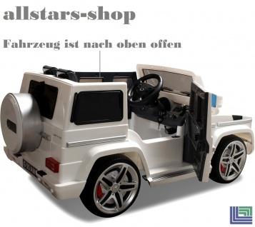 Actionbikes Kinderauto Elektro-Auto Mercedes AMG G55 High Door Kinder-Elektroauto schwarz für 2 Personen Miweba