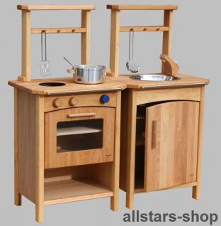 Schöllner Kinderküche Pantry-Küche Premium 2 Küchenblocks Erlenholz Modulküche für Kindergarten