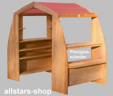 Schöllner Holzspielzeug Kaufhaus De Luxe Kaufladen mit Dach ohne Schubladen