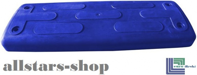 Beckmann Schaukelsitz Typ 1B Gummi Schaukel gebogen mit Alu-Verstärkung ohne Kette TÜV für öffentlichen Bereich blau