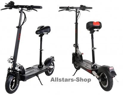 E-Scooter eFlux Lite Six 500 Watt Motor Elektro-Roller Lite Six 15, 6 Ah schwarz