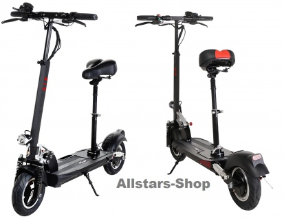 E-Scooter eFlux Lite Six 500 Watt Motor Elektro-Roller Lite Six 7, 8 Ah schwarz
