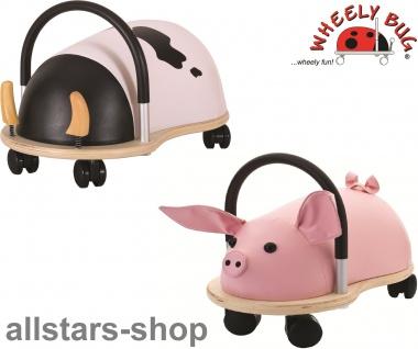 Wheely Bug Rutscher Ferkel Piggi und Kuh Maggie Kleinkindrutscher groß 360 Grad rundum allstars