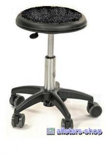 Allstars Stuhl Kinderstuhl Rollhocker Drehstuhl schwarz Rollstuhl Kinderhocker KiGA