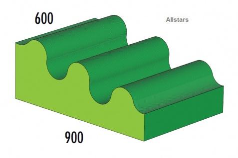Bänfer Softbaustein große Welle blau 900 x 600 x 300 mm Maxi Schaumstoff-Bausteine Großbaustein