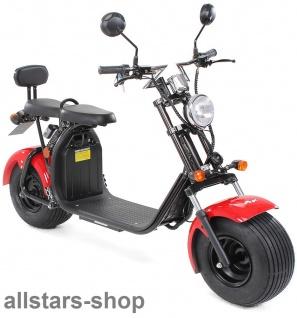 Actionbikes Elektro-Roller Easy Rider Harley Two Sitze Elektro-Scooter Chopper STVZO rot