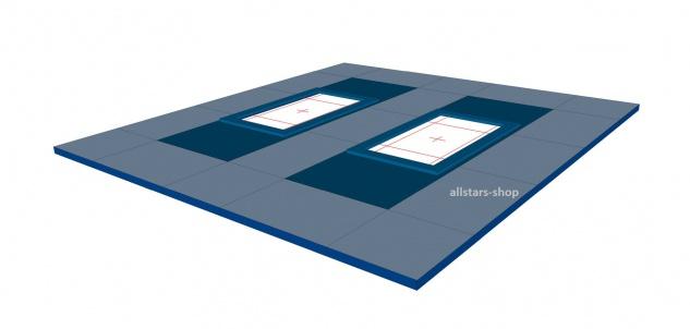 Bänfer Umrandungsmattensatz für Trampolin Großgerät 19-tlg. Nadelfilz für 2 Geräte