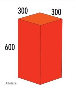 Bänfer Softbaustein Quader Rot 600 x 300 x 300 mm Maxi Schaumstoff-Baustein