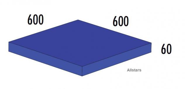 Bänfer Softbaustein Turnmatte Blau 600 x 600 x 60 mm Maxi Schaumstoff-Baustein