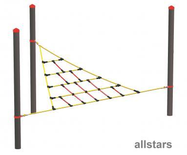 HUCK Vario-Element 5 Kletternetz-Dreieck für Robinie Pfosten öffentlicher Spielplatz
