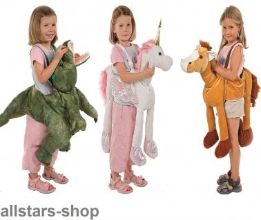 Allstars Kinder-Kostüm Tierkostüme Pferd + Dino + Einhorn Faschingskostüme Schlupfkostüme