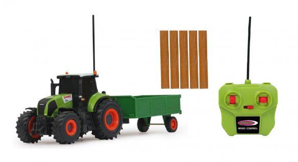 Jamara Claas RC Axion 850 Traktor 1:28 mit Anhänger Landmaschine grün RC-Auto - Vorschau 3