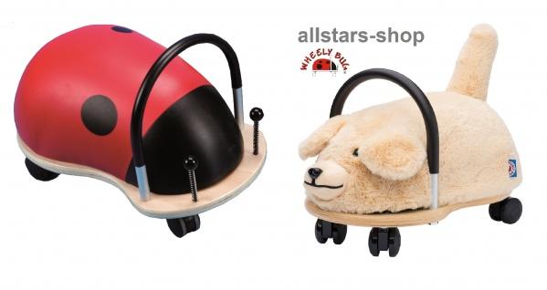 Wheely Bug Rutscher Hund Bello und Marienkäfer Skip Kleinkindrutscher klein 360 Grad rundum allstars