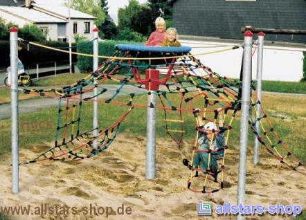 Huck Seilkletterturm Adlerhorst Ehringshausen Spielplatz Vogelnest Stahlpfosten