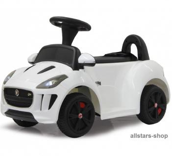 Jamara Kinder-Auto Ride On Car Kiddy Jaguar Kleinkind-Auto mit E-Motor weiss