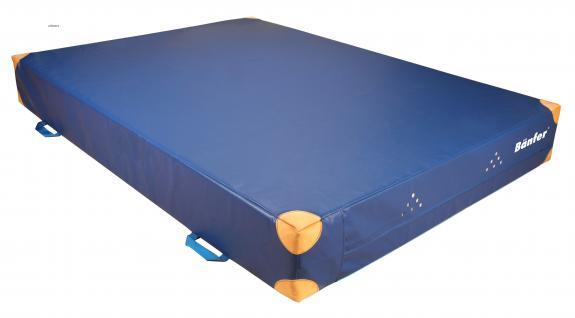 Bänfer Turnmatte Weichboden WEBO 2x1, 5 m RG 18 Matte Lederecken Griffe Gerätematte