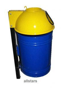 Beckmann Abfallbehälter 50 l Mülleimer Typ 6 Papierkorb pulverbeschichtet Stahl