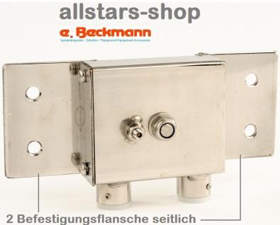 Beckmann Sandaufzug Edelstahl zur seitlichen flanschen-Befestigung Spielplatz-Aufzug