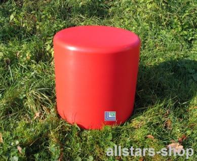 Beckmann Sitzelement Hocker rund Sitzgelegenheit Design-Zylinder Ø = 45 cm rot H = 45 cm mit Bodenanker