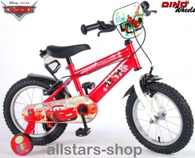 "Allstars Dino Wheels Bikes Disney Kinderfahrrad Jungenfahrrad 14 "" mit 2 Bremsen rot"