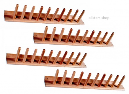 Stiefelwagenleiste 4 Stück Schuhleiste Stiefelständer für 20 Paar Holz Holzleiste allstars