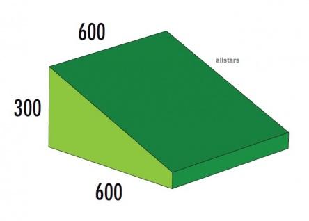 Bänfer Softbaustein Keil grün 600 x 600 x 300/60 Maxi Schaumstoff-Baustein Großbaustein