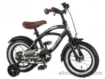 Allstars Dino Wheels Bikes Black Cruiser Kinderfahrrad - Jungen - 12 Zoll - Schwarz
