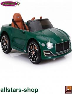 Jamara Kinderauto Elektroauto Ride On Car Bentley EXP12 dunkelgrün Cabriolet Kids