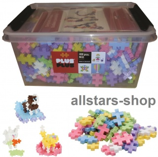 Allstars Plus-Plus Puzzle Bausteine Bauklötze Midi 400 pastell