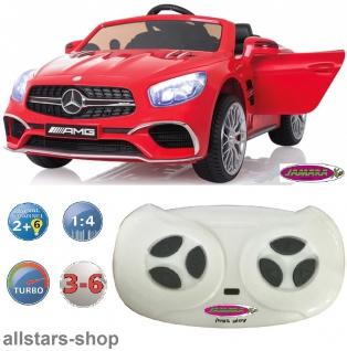 Jamara Kinder-Auto Elektroauto Mercedes SL 65 AMG Ride On Car mit E-Motor rot - Vorschau 3