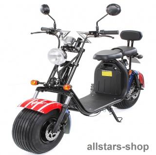 Actionbikes Elektro-Roller Easy Rider Harley Two Sitze Elektro-Scooter Chopper STVZO