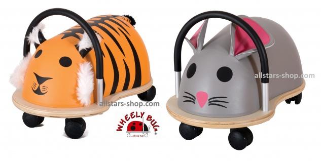 Wheely Bug Rutscher Maus und Tiger Kleinkindrutscher klein 360 Grad rundum allstars