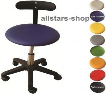"""Allstars Bürostuhl """"Octopus Beta"""" 42-55 cm Drehstuhl mit Rollen und PU-Beckenstütze blau"""