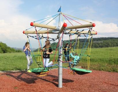 Hally-Gally Nest-Rallye Karussell Kletterturm Vogelnestschaukel Spielplatz